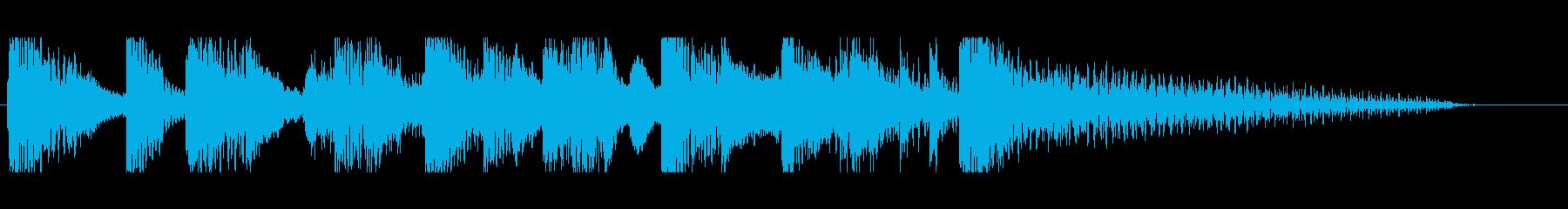 ステージクリア クールなイメージの再生済みの波形