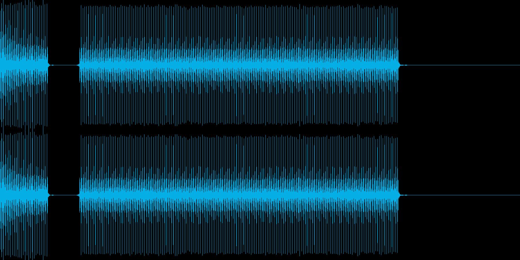 クイズなどの「ブブー」という不正解の音…の再生済みの波形