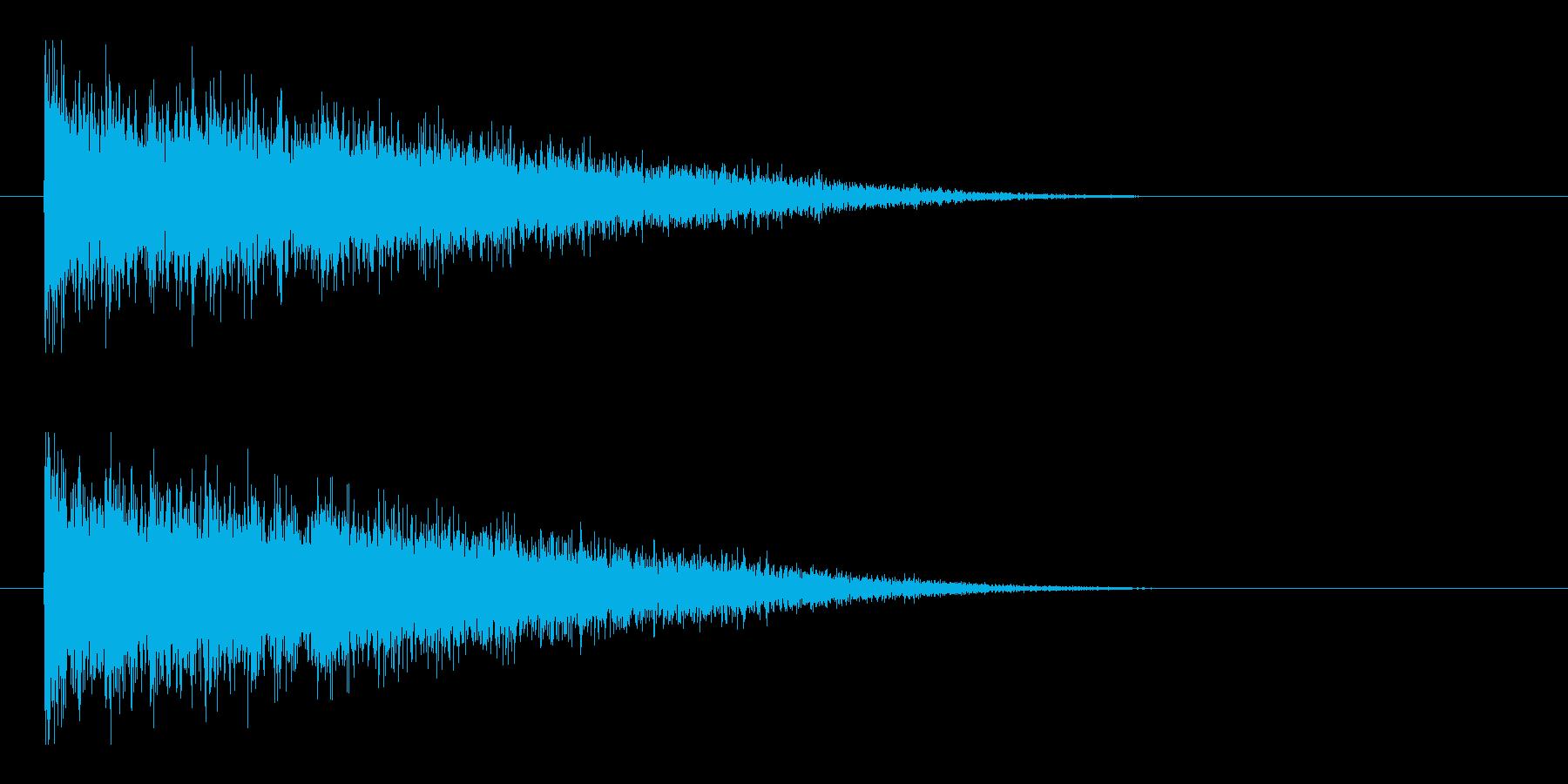 レーザー音-146-3の再生済みの波形