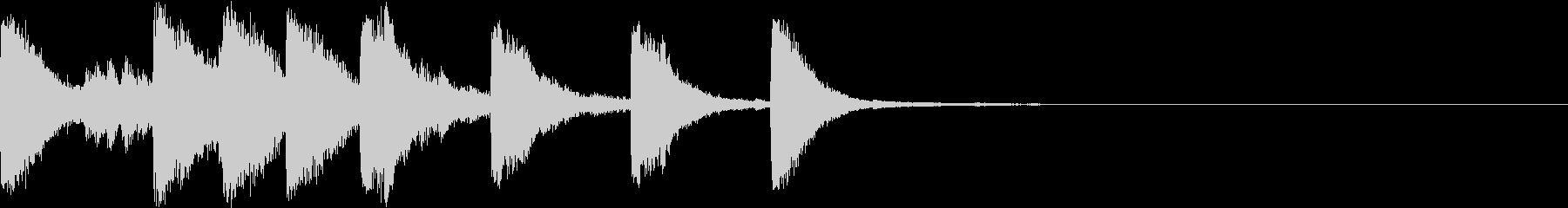 ベル ファンファーレ シンプル 02の未再生の波形