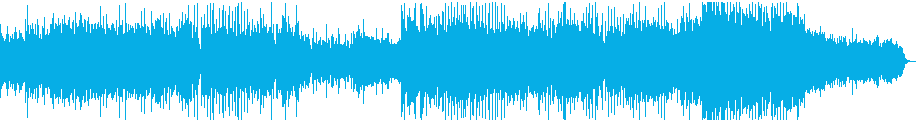 メロディアスなミクスチャーミュージックの再生済みの波形