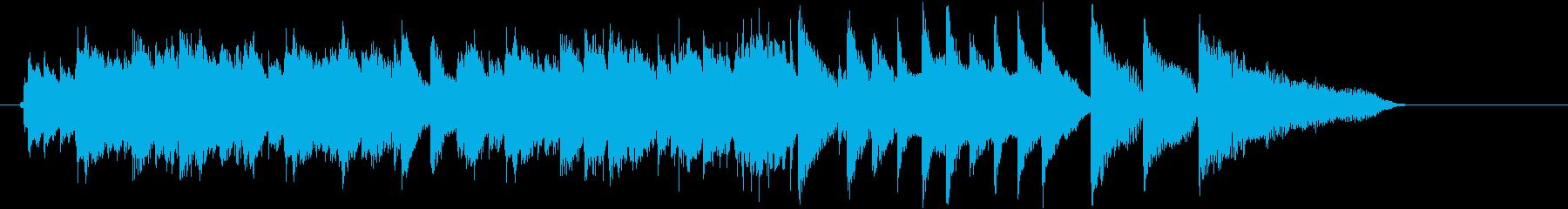 プログレッシブなピアノ・ソロのジングルの再生済みの波形