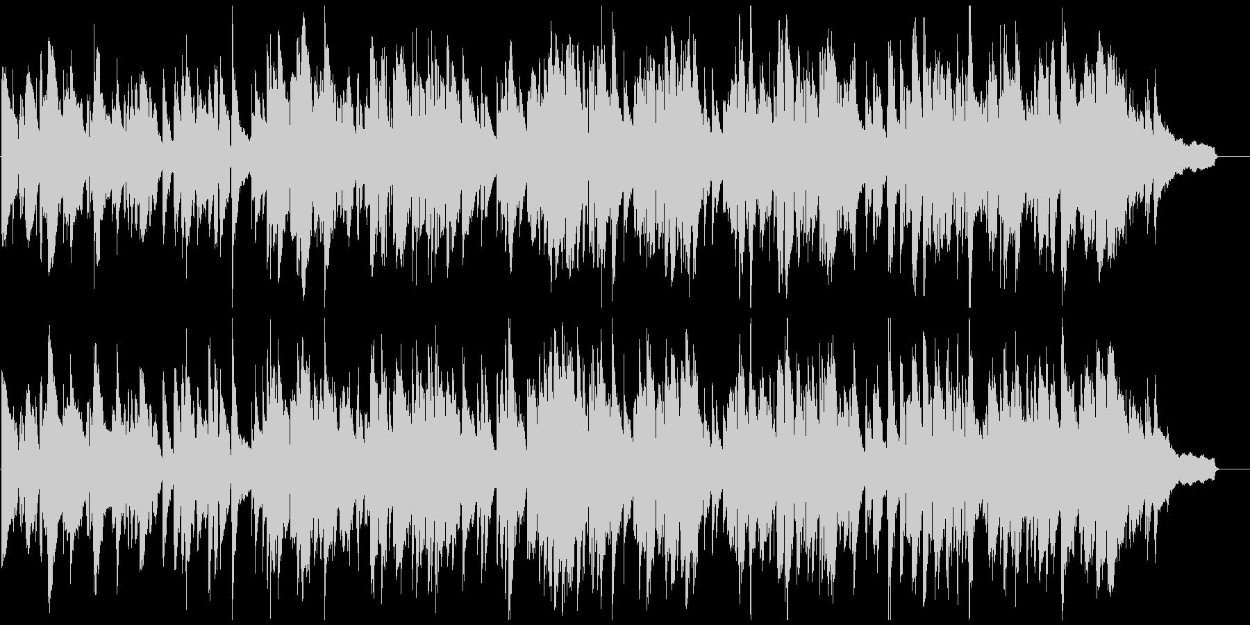 ゆったりくつろぎの癒し系ジャズ、サックスの未再生の波形