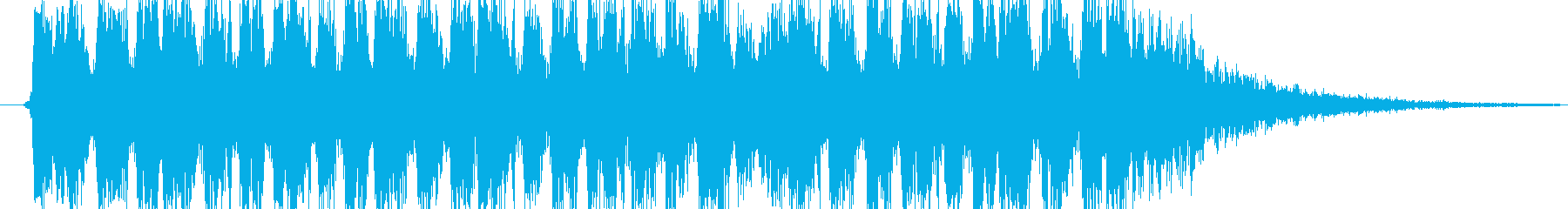 サブマシンガン発砲音の再生済みの波形