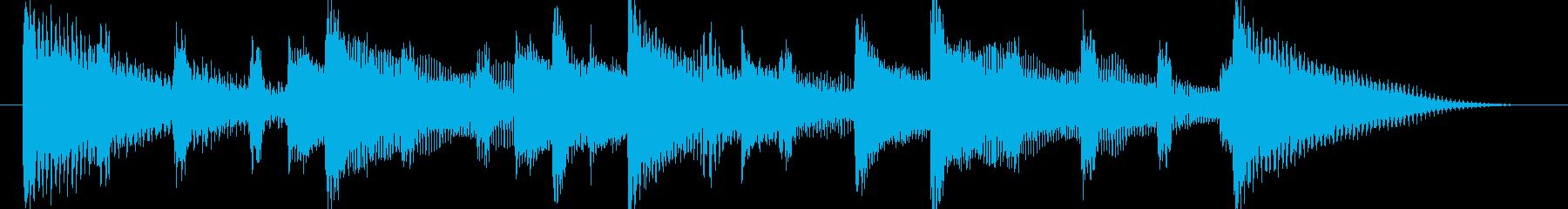 和む、でも少しクールなBGM-バンパーの再生済みの波形