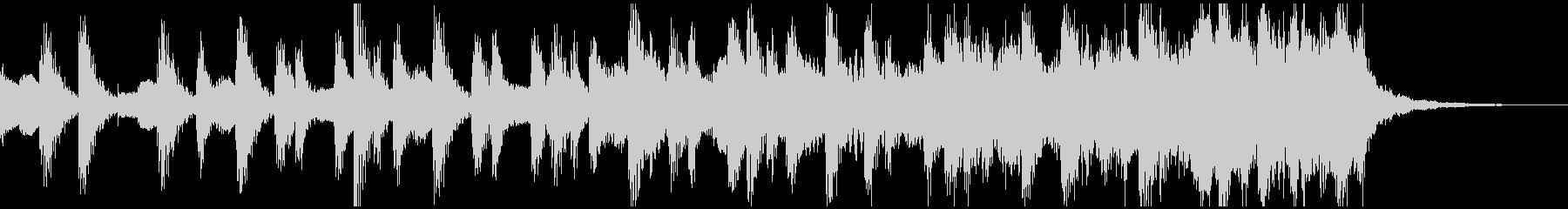 ミニマルなショートBGMの未再生の波形