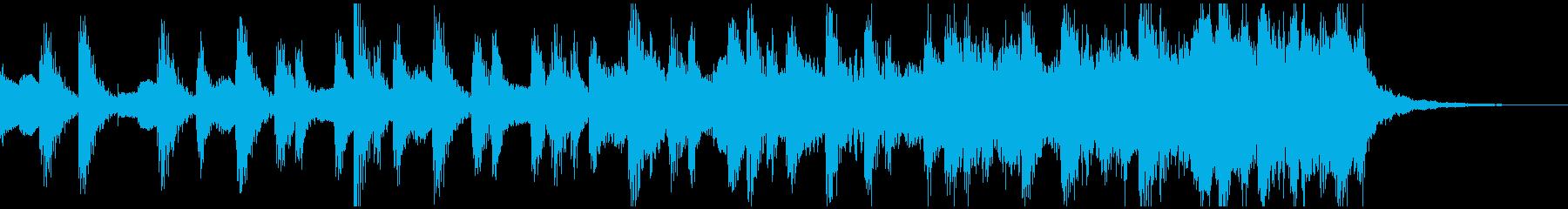 ミニマルなショートBGMの再生済みの波形