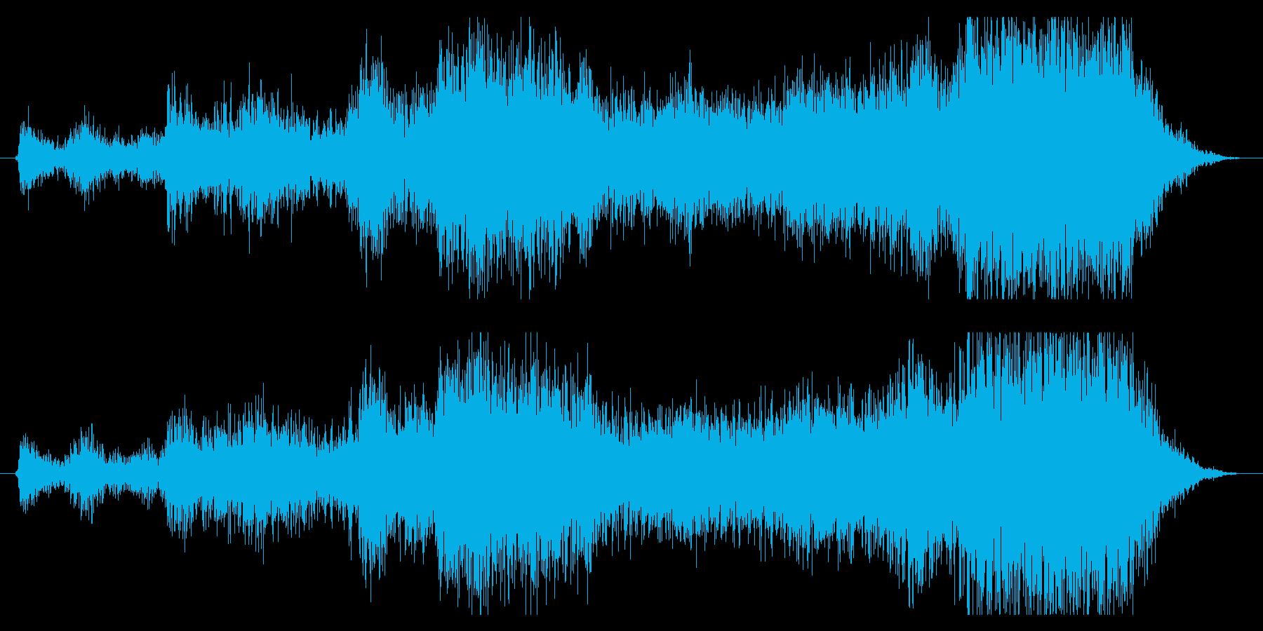 地に響く雷の音の再生済みの波形