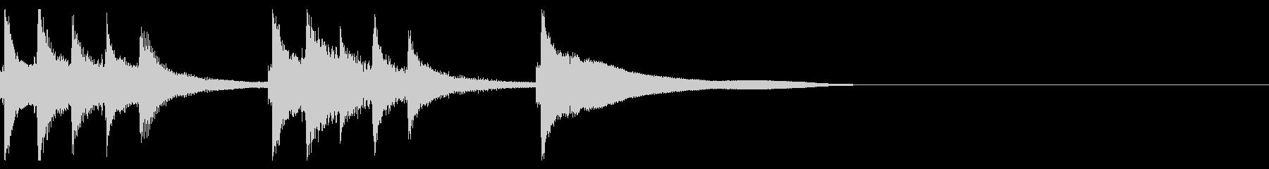 お琴の定番ジングル02の未再生の波形
