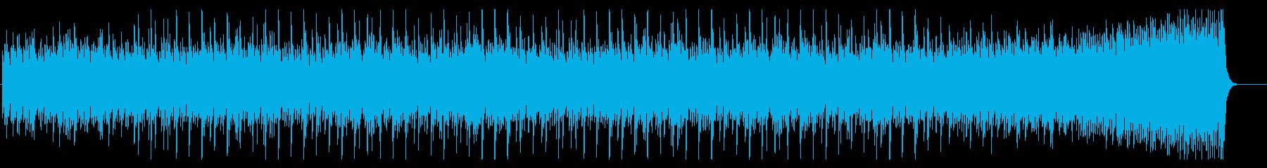 ピアノによる幾何学的フレーズの現代曲の再生済みの波形