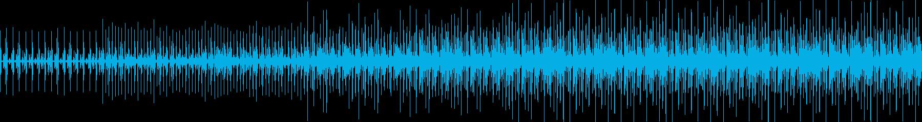 ループ可 民族音楽でリズムだけのBGMの再生済みの波形