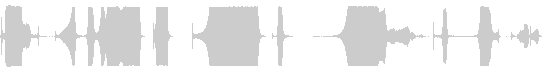 フィードバックメガホンの未再生の波形