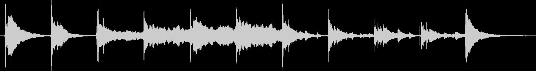 アコギループ中心、少し切ない曲の未再生の波形