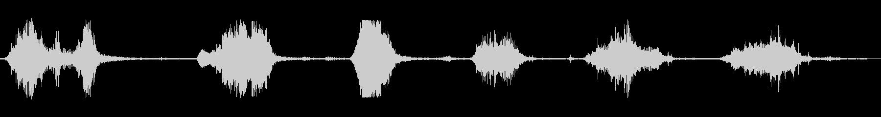 金属タンクの擦れ共振の未再生の波形