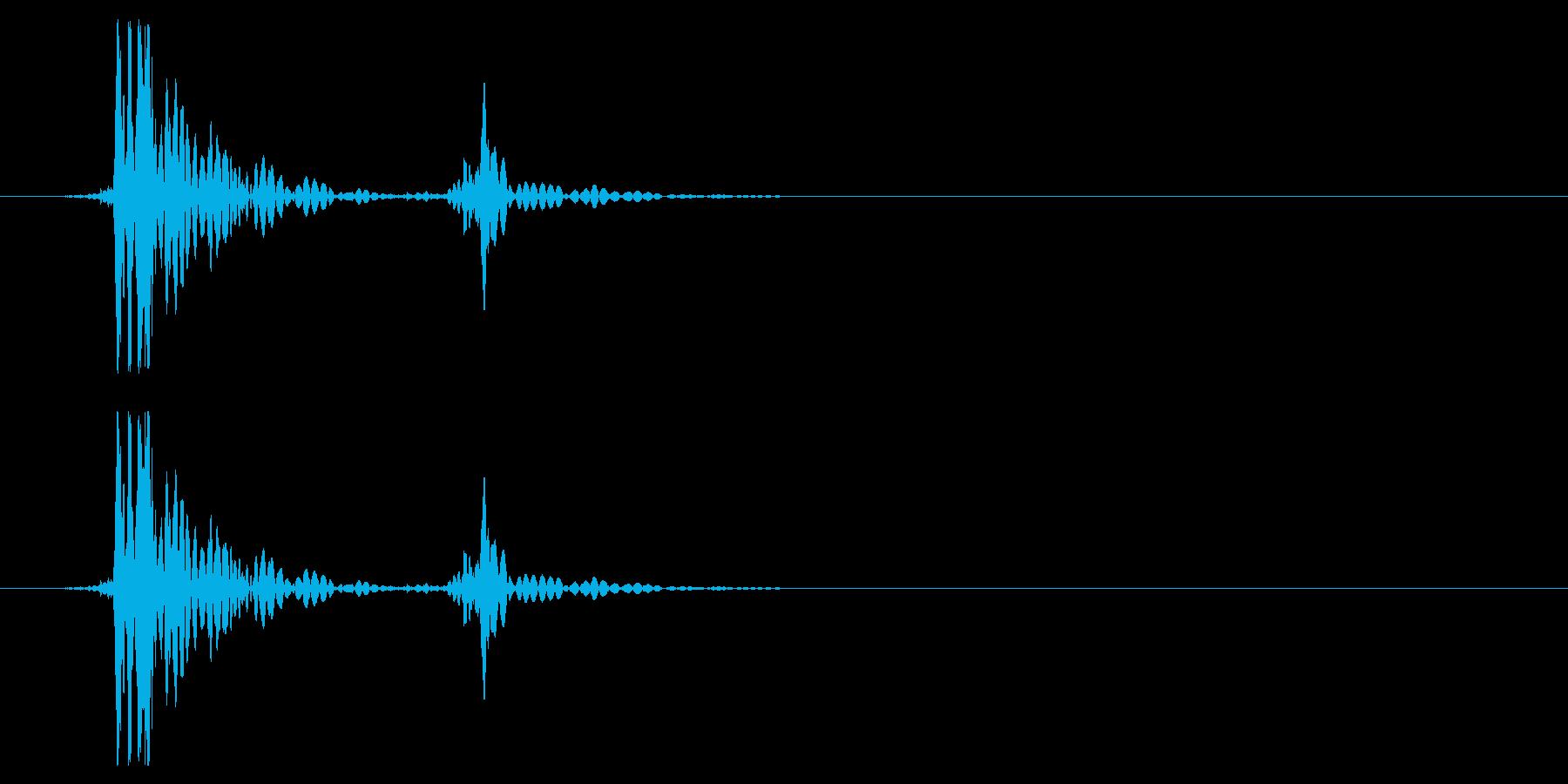 ソファ・布団に倒れ込む6の再生済みの波形