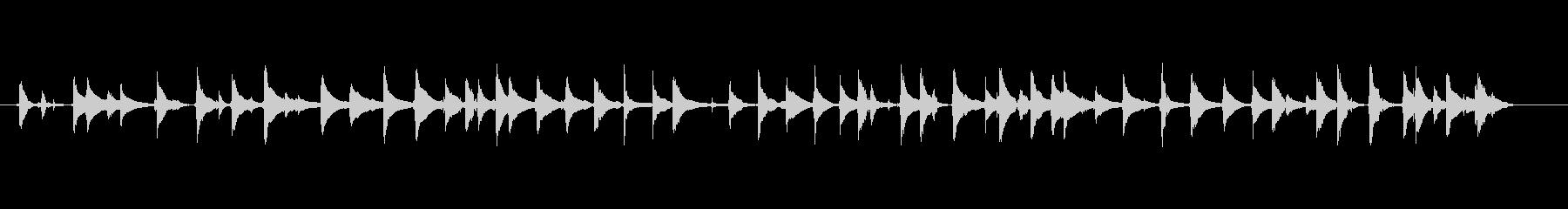 三味線107練習風景爪弾き間がいいソングの未再生の波形