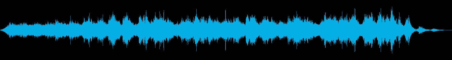 サイケデリックでドリーミーなアンビエントの再生済みの波形