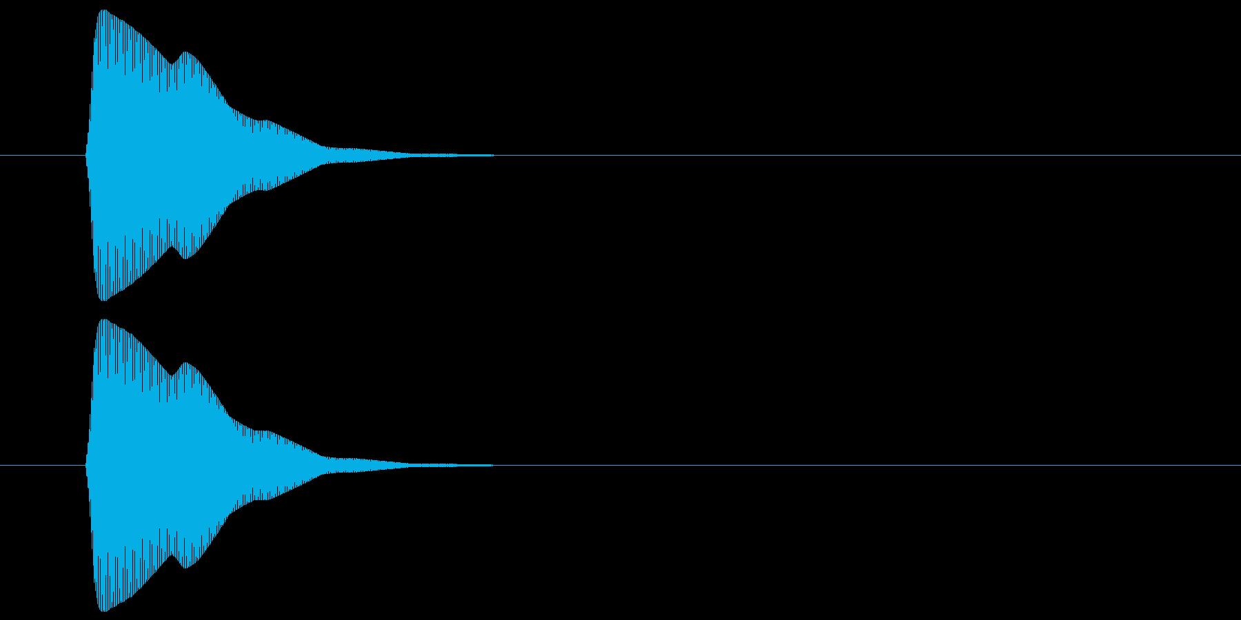 ピッ(カーソル、操作音) 02の再生済みの波形
