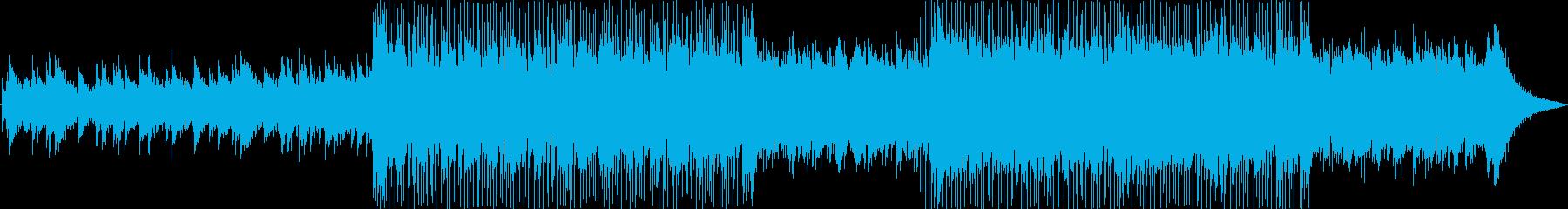 まったりしたおしゃれなメロディーの再生済みの波形
