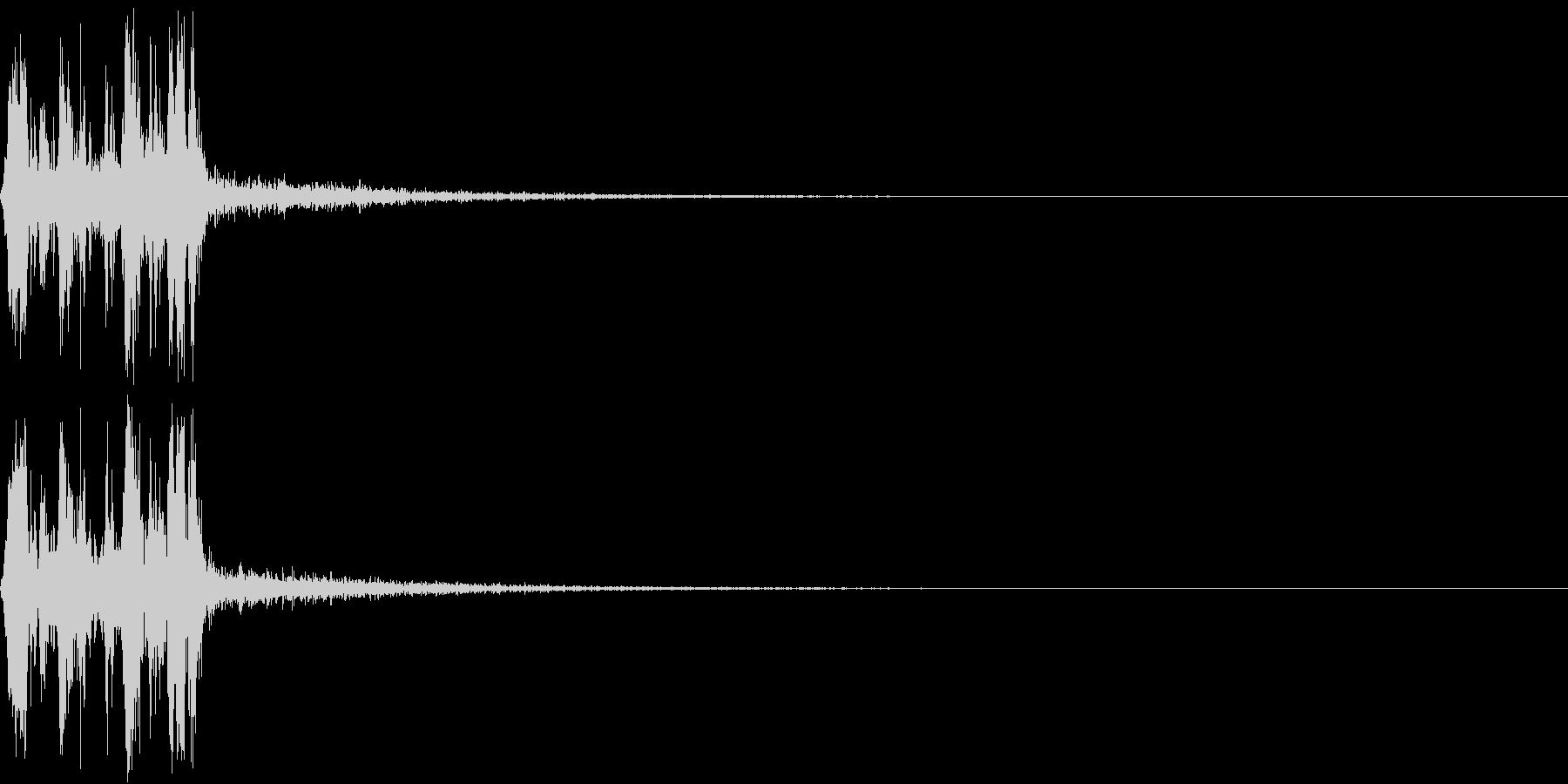 Camera 室内撮影 シャッター音 3の未再生の波形