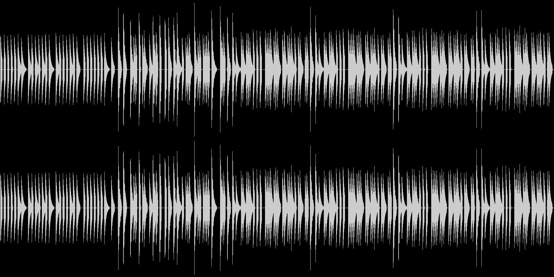 シンセ音一つだけの、メロディーだけの曲…の未再生の波形