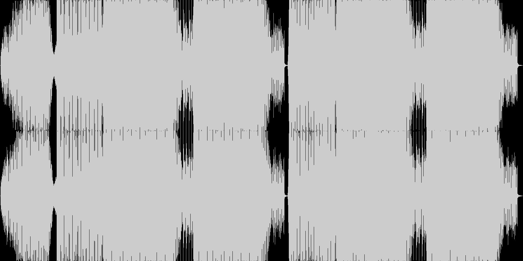 爽やかなで疾走感のあるEDMロングの未再生の波形