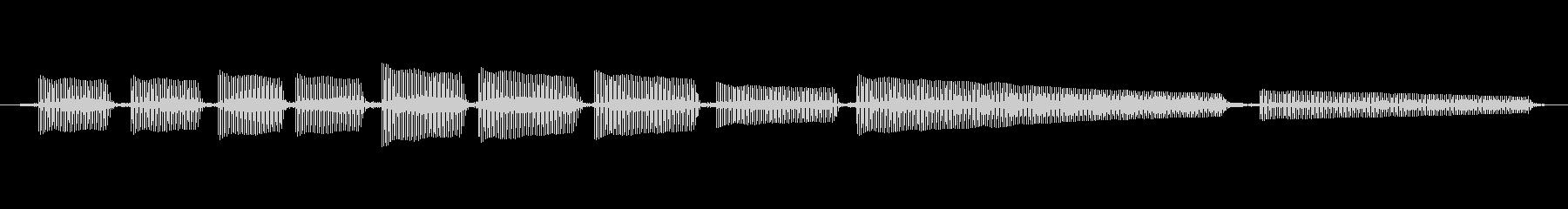 エレキギター5弦チューニング1の未再生の波形