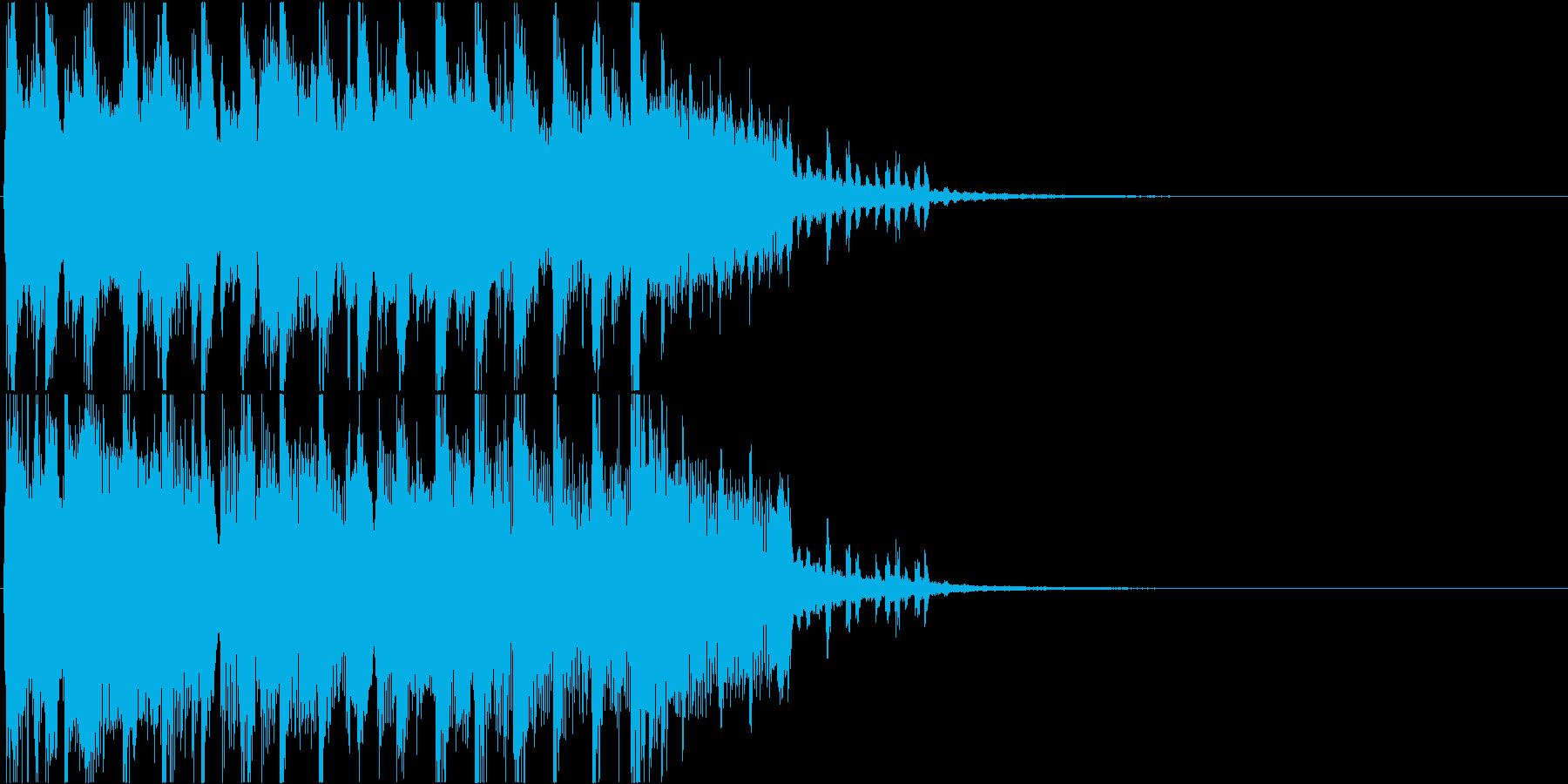 クール・エモい雰囲気のEDMなジングルの再生済みの波形