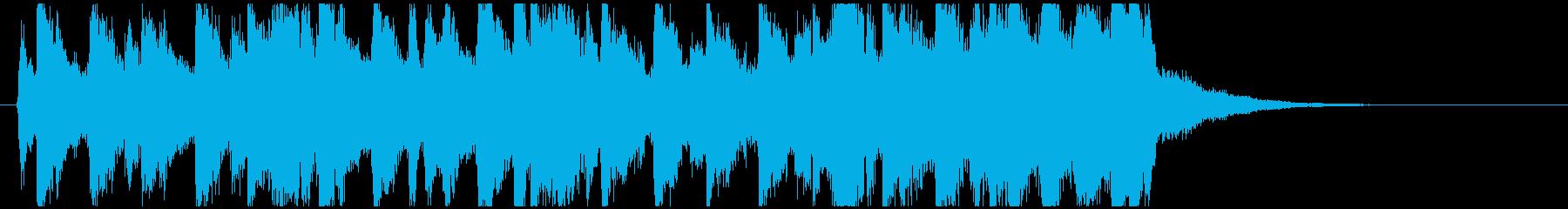 不穏で緊迫感あるスリリングなタンゴBGMの再生済みの波形