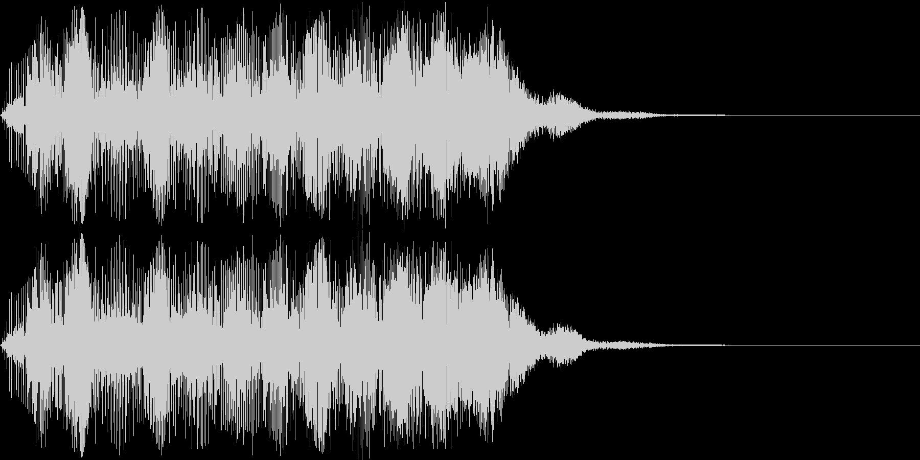 明るい響きのアラーム音(上昇する電子音)の未再生の波形