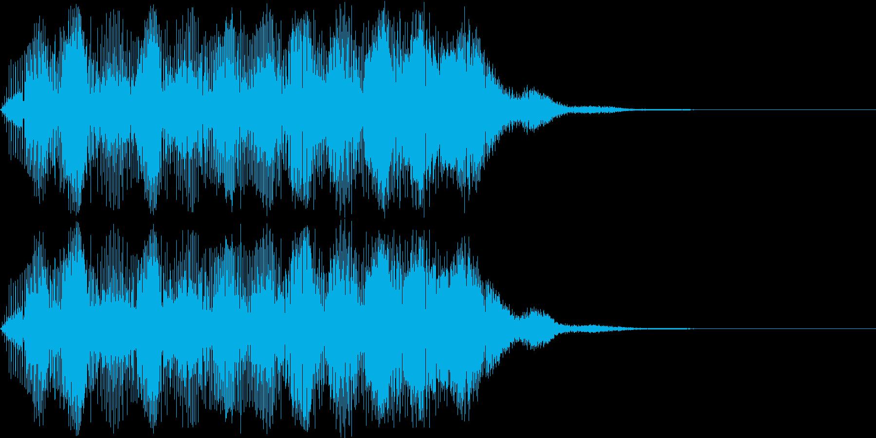 明るい響きのアラーム音(上昇する電子音)の再生済みの波形