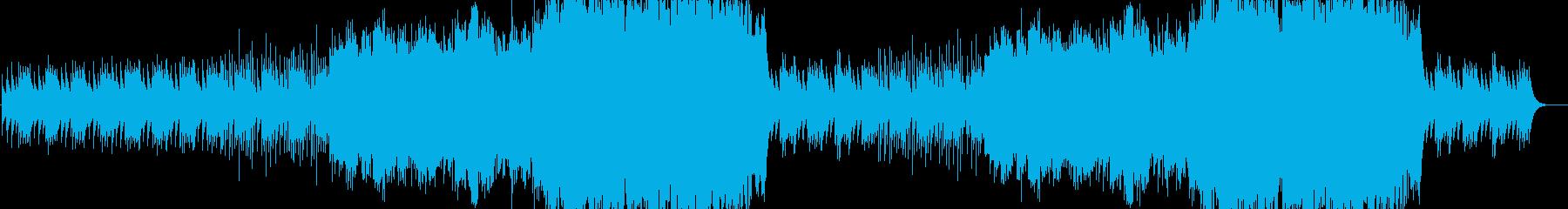 怪しげな雰囲気のストリングスBGMの再生済みの波形