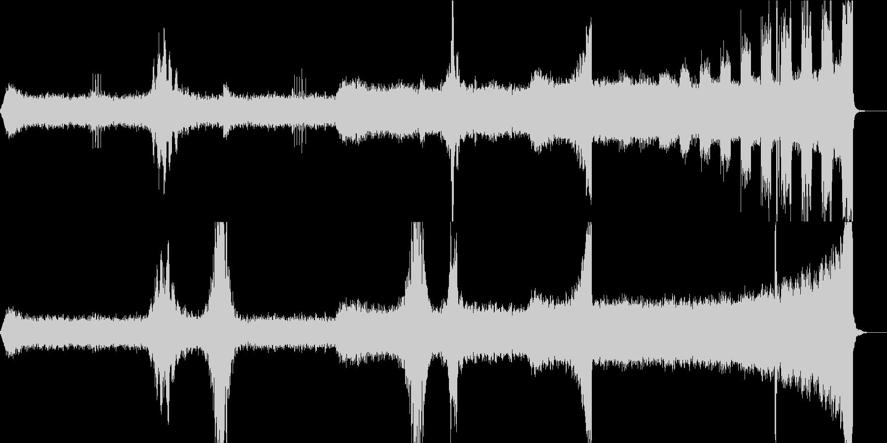 ホラー・サスペンス向けのアンビエントの未再生の波形