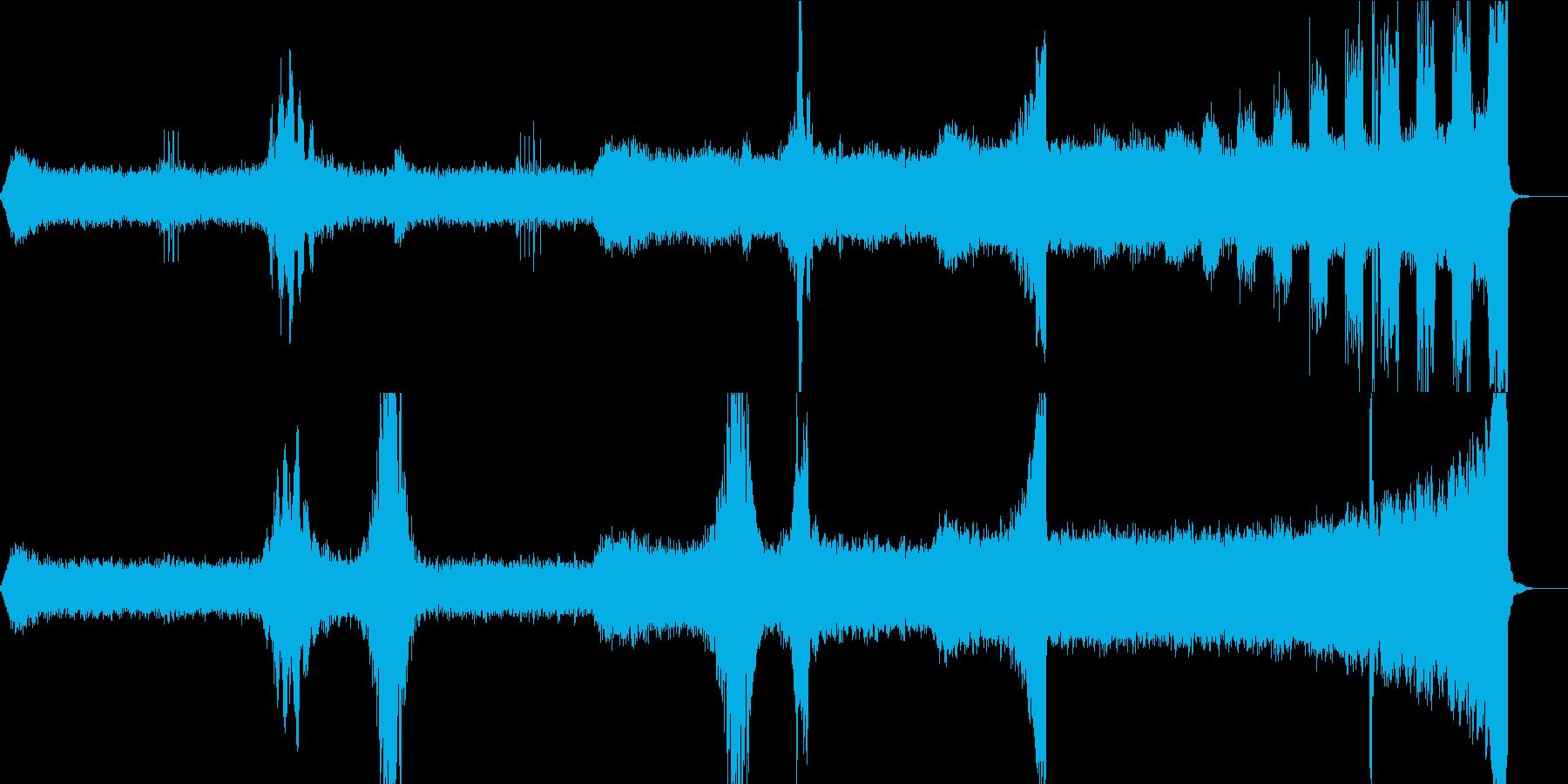 ホラー・サスペンス向けのアンビエントの再生済みの波形