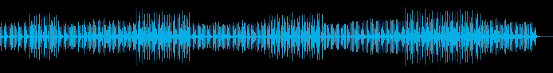 コミカルで可愛さのあるメロディーの再生済みの波形