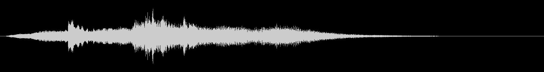 ピアノとストリングの優しいサウンドロゴの未再生の波形