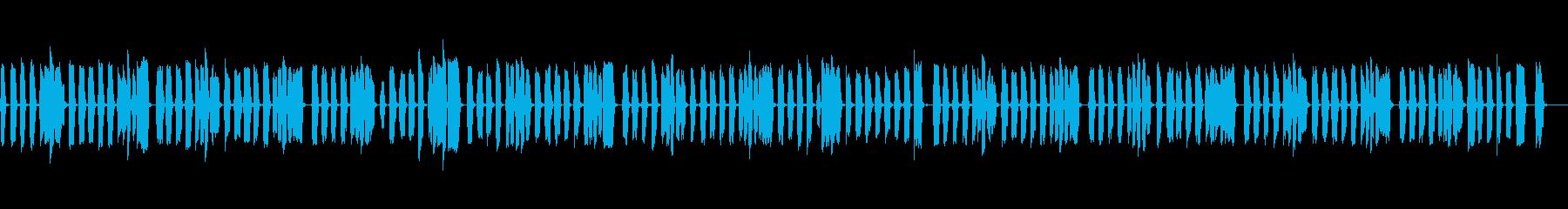 小学生が吹いてるみたいなリコーダーの再生済みの波形