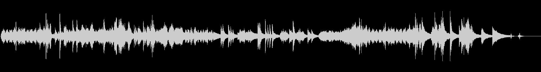 ピアノソロの近代曲の未再生の波形