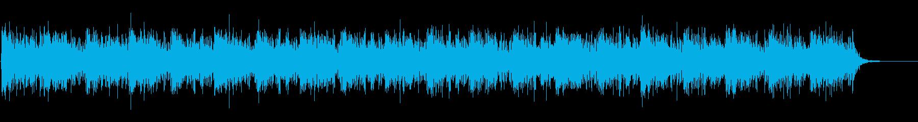 映像向けニューエイジ系のBGMの再生済みの波形