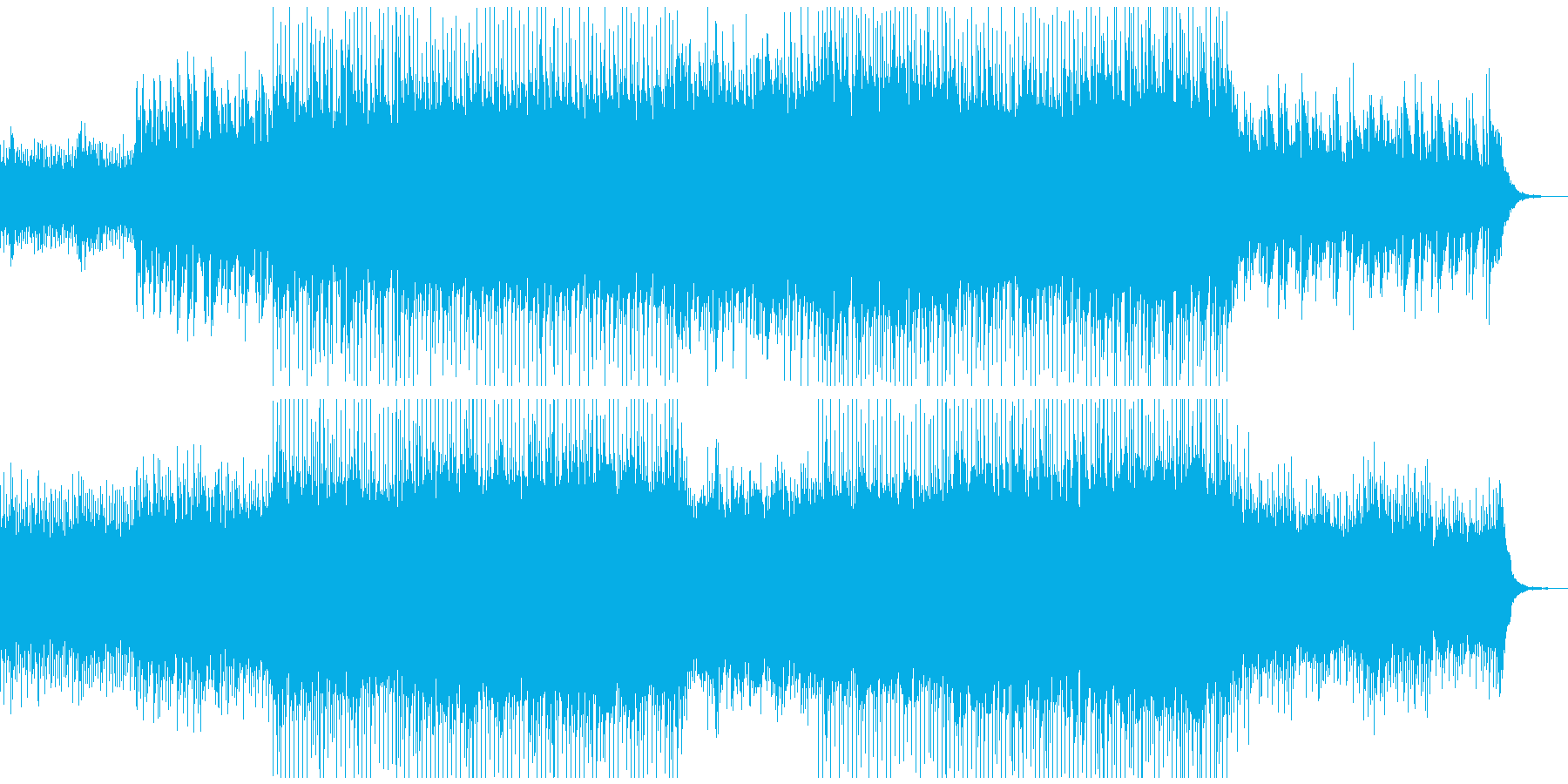 ピアノがきらきら綺麗なBGM3の再生済みの波形