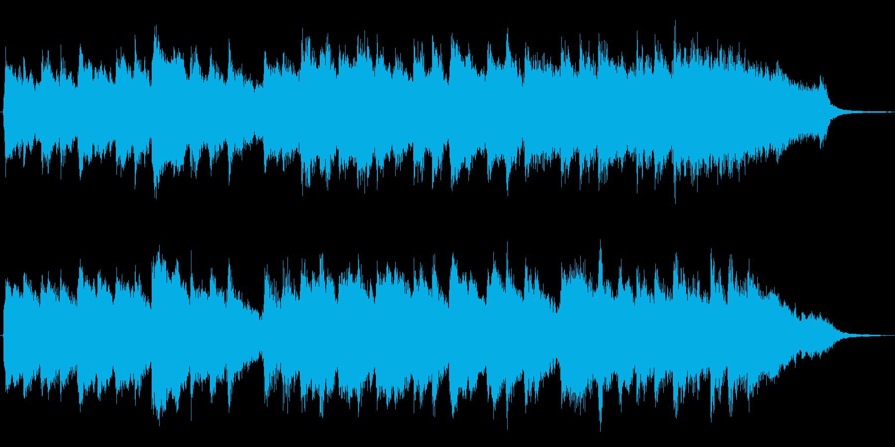 ピアノとシンセの幻想的なジングルの再生済みの波形