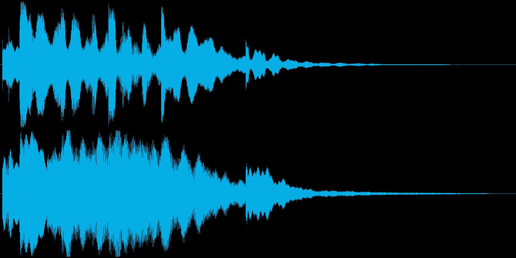 エレピのジングル、おしゃれ系の再生済みの波形