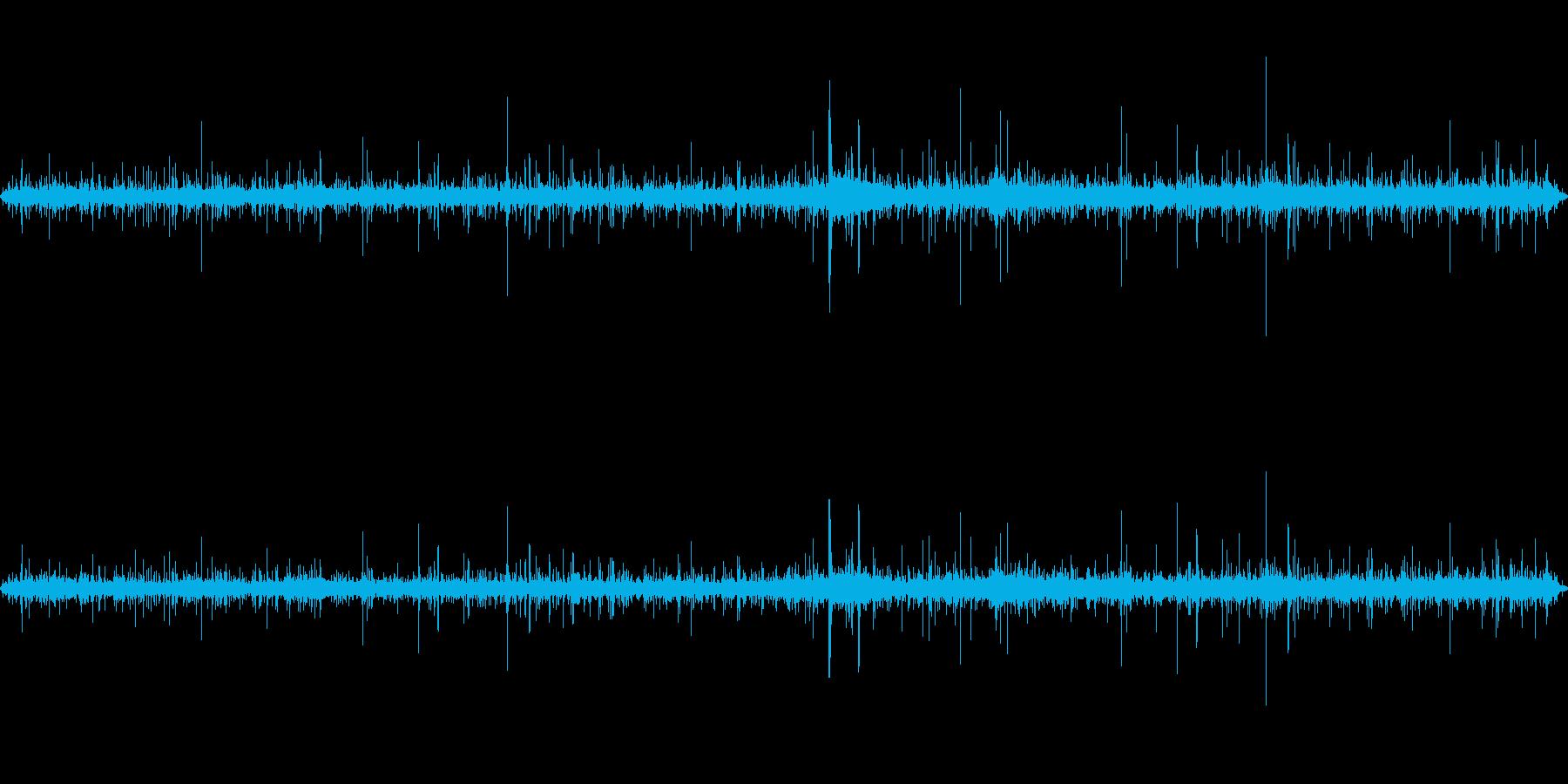 ジュー(揚げている音)の再生済みの波形
