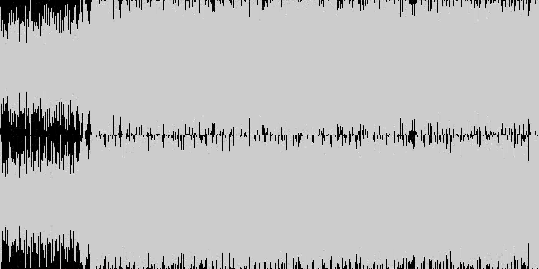 魔法戦士の戦いのファンファーレループの未再生の波形