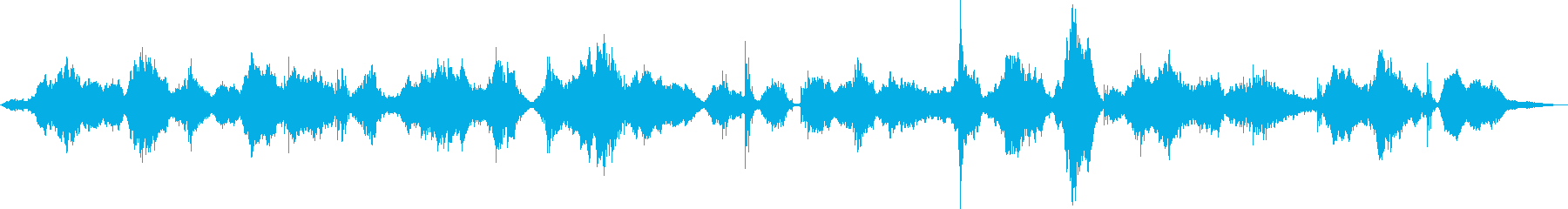 暗い深海をイメージしたアンビエントAの再生済みの波形