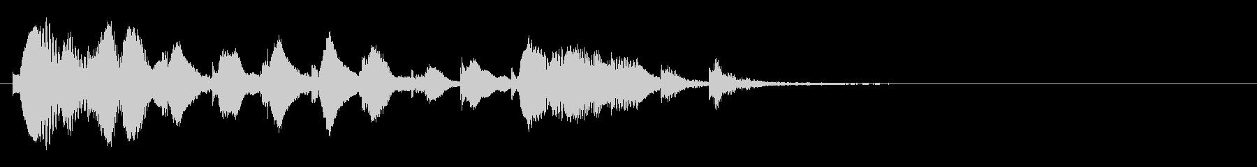 のほほんジングル025_キュートの未再生の波形