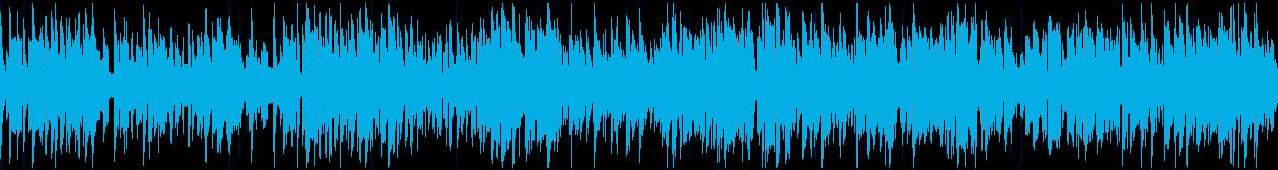 明るいジャズ、素敵なサックス ※ループ版の再生済みの波形
