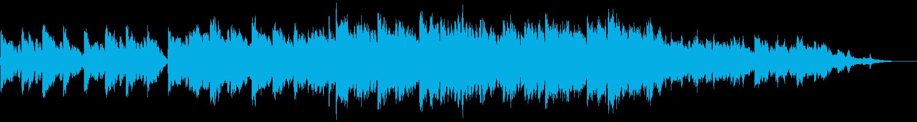 ピアノとストリングスの感動的なBGMの再生済みの波形