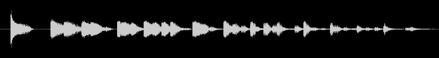 反響 混乱した02をヒットの未再生の波形