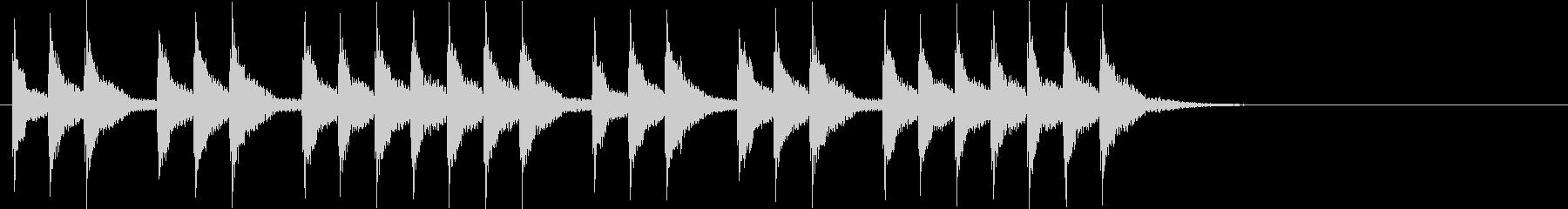 三三七拍子×2(遅)太鼓+手拍子+笛の未再生の波形